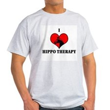 I Luv Hippo Therapy Ash Grey T-Shirt