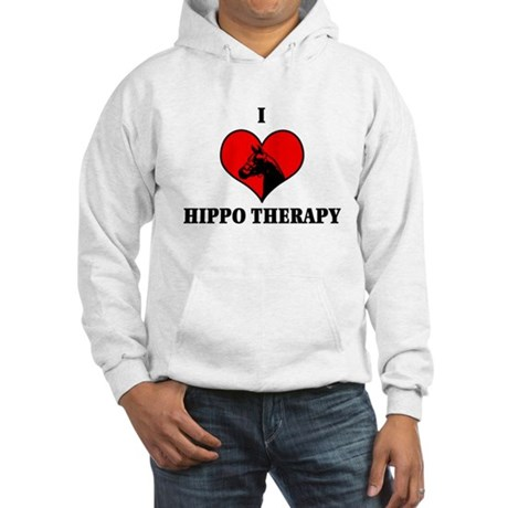 I Luv Hippo Therapy Hooded Sweatshirt