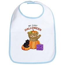 First Halloween Teddy Bib