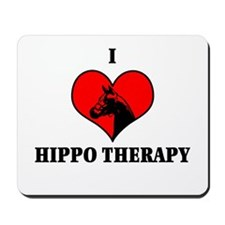 I Luv Hippo Therapy Mousepad