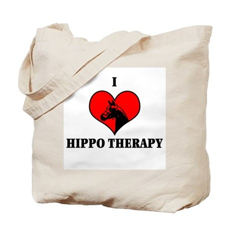 I Luv Hippo Therapy Tote Bag