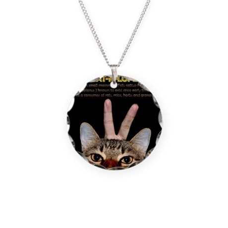 Cat-A-Lope Necklace Circle Charm