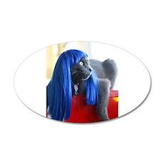 Wig Cat 22x14 Oval Wall Peel