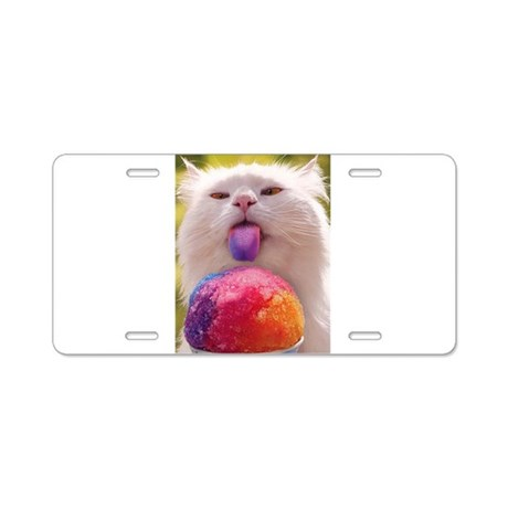 Colorful Kitty Aluminum License Plate
