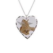 Orange Angel Cat Necklace
