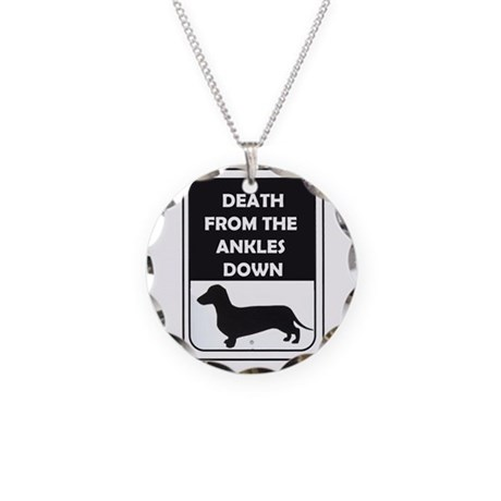 Ankle Death Necklace Circle Charm