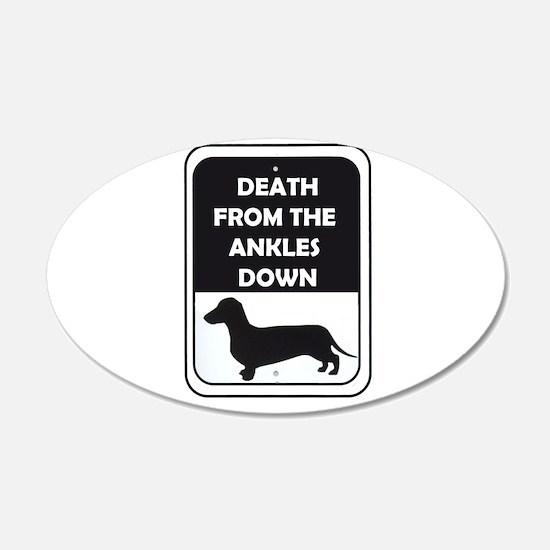 Ankle Death 22x14 Oval Wall Peel