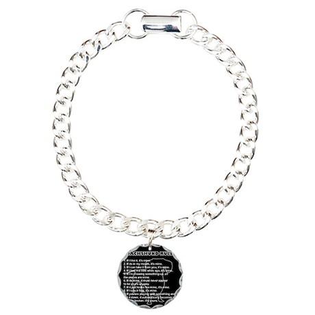 Dachshund Rules Charm Bracelet, One Charm