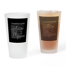 Dachshund Rules Drinking Glass