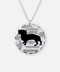 Dachshund Chart Necklace