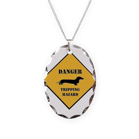 Tripping Hazard Necklace Oval Charm