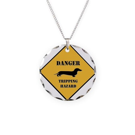 Tripping Hazard Necklace Circle Charm