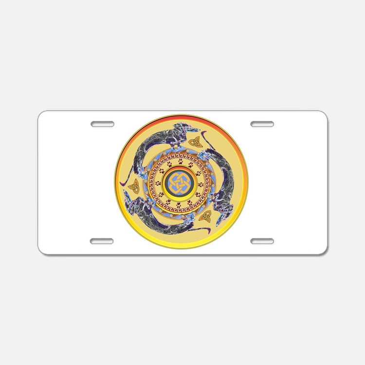 Around the World Dogs Aluminum License Plate