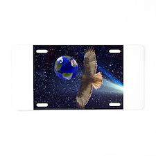 Night Hawk World Aluminum License Plate