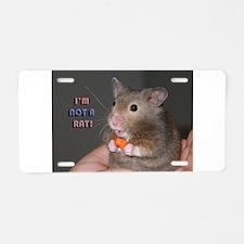 Not a Rat Aluminum License Plate