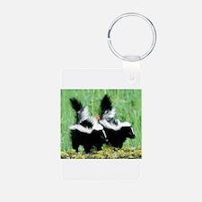Two Skunks Keychains