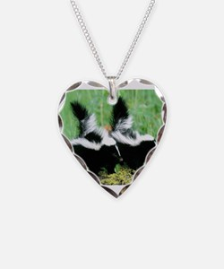 Two Skunks Necklace