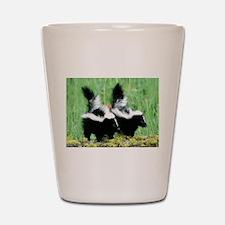 Two Skunks Shot Glass