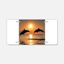 Two Dolphins Aluminum License Plate