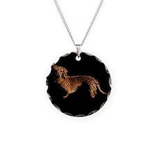 Tiger Dachshund Dog Necklace