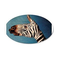 Hand Zebra 22x14 Oval Wall Peel