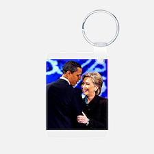 Obama & Clinton Keychains
