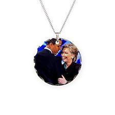 Obama & Clinton Necklace