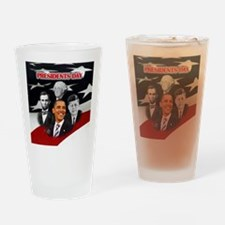 Presidents Day Drinking Glass