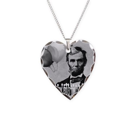 Lincoln's Birthday Necklace Heart Charm