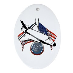 Space shuttle Ornament (Oval)