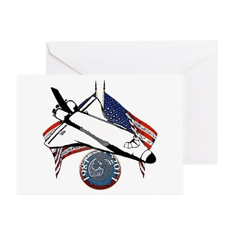 Space shuttle Greeting Cards (Pk of 20)