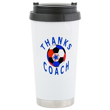 Soccer Coach Thank You Stainless Steel Travel Mug