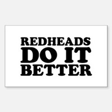 Redheads Do It Better Rectangle Decal