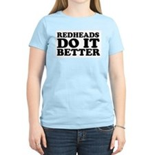 Redheads Do It Better Women's Pink T-Shirt
