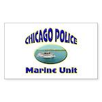 Chicago PD Marine Unit Sticker (Rectangle 50 pk)