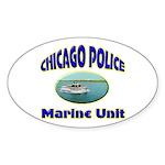 Chicago PD Marine Unit Sticker (Oval 10 pk)
