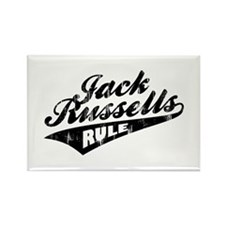 Jack Russells Rule Rectangle Magnet