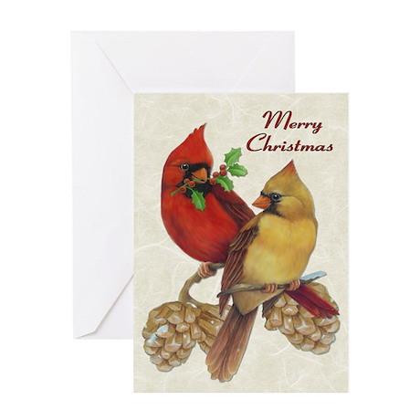 Winter Cardinals Greeting Card