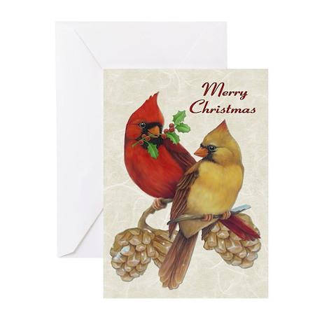 Winter Cardinals Greeting Cards (Pk of 10)