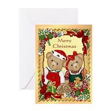 Sweet Christmas Bears Greeting Card