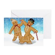 Gingerbread Trio Greeting Card