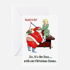 Christmas Bonus Greeting Card