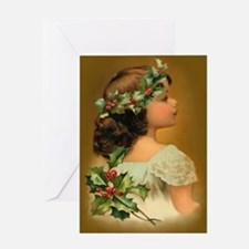 Holly Child Greeting Card