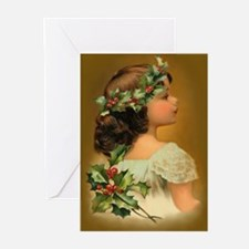 Holly Child Greeting Cards (Pk of 10)