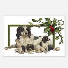 Spaniel Family Christmas Postcards (Package of 8)