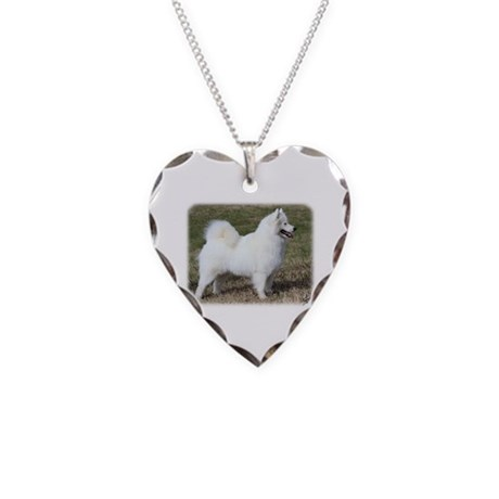 Samoyed 9Y602D-004 Necklace Heart Charm