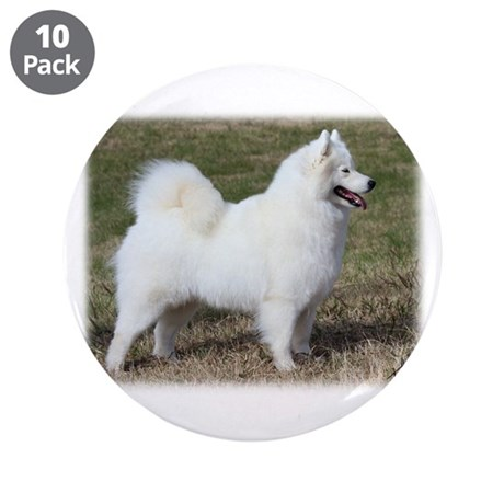 """Samoyed 9Y602D-004 3.5"""" Button (10 pack)"""