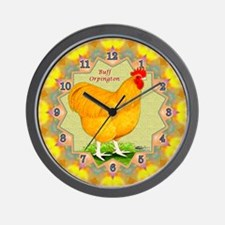 Buff Orpington Wall Clock