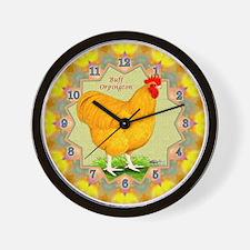 Buff Orpington Wall Clock