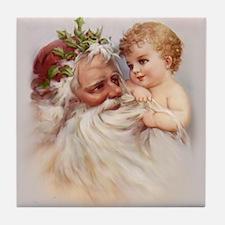 Santa and Cherub Tile Coaster